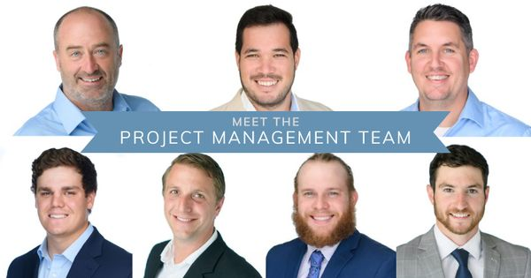 A collage of 7 of the Alvarez Project Management team