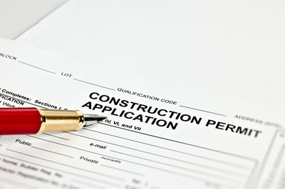Construction permit application for a new home