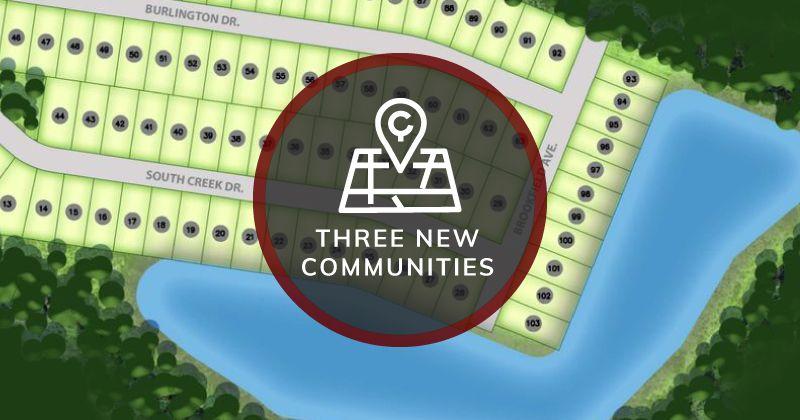 Three New Communities Alvarez Construction