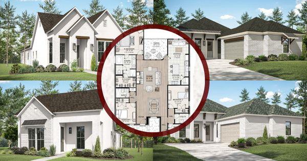 renderings with floor plan in the center