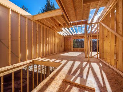 Framed house by Alvarez Construction Company