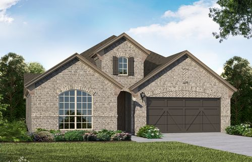 Plan 1523 Elevation A by American Legend Homes