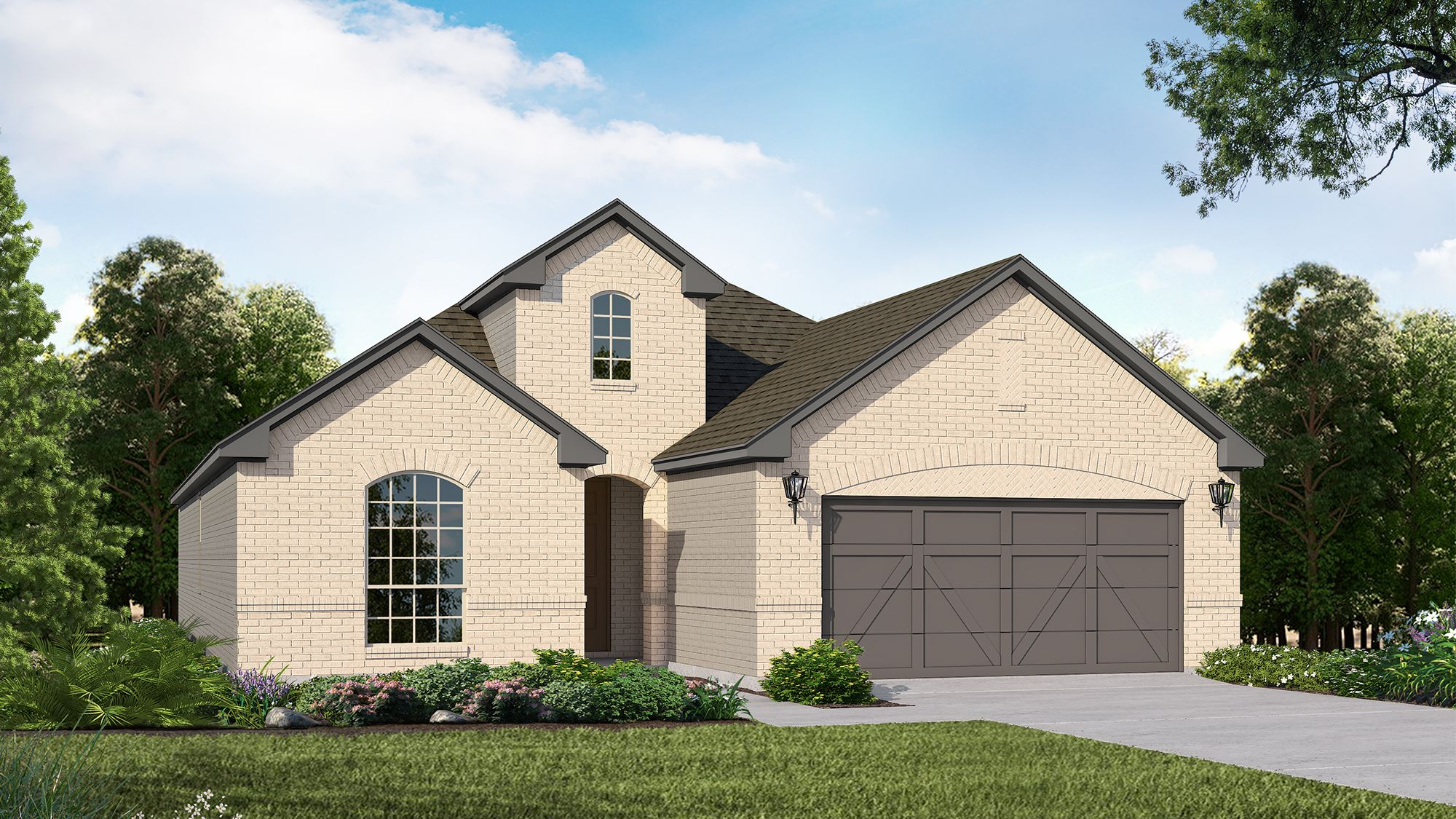 Plan 1520 Elevation A by American Legend Homes