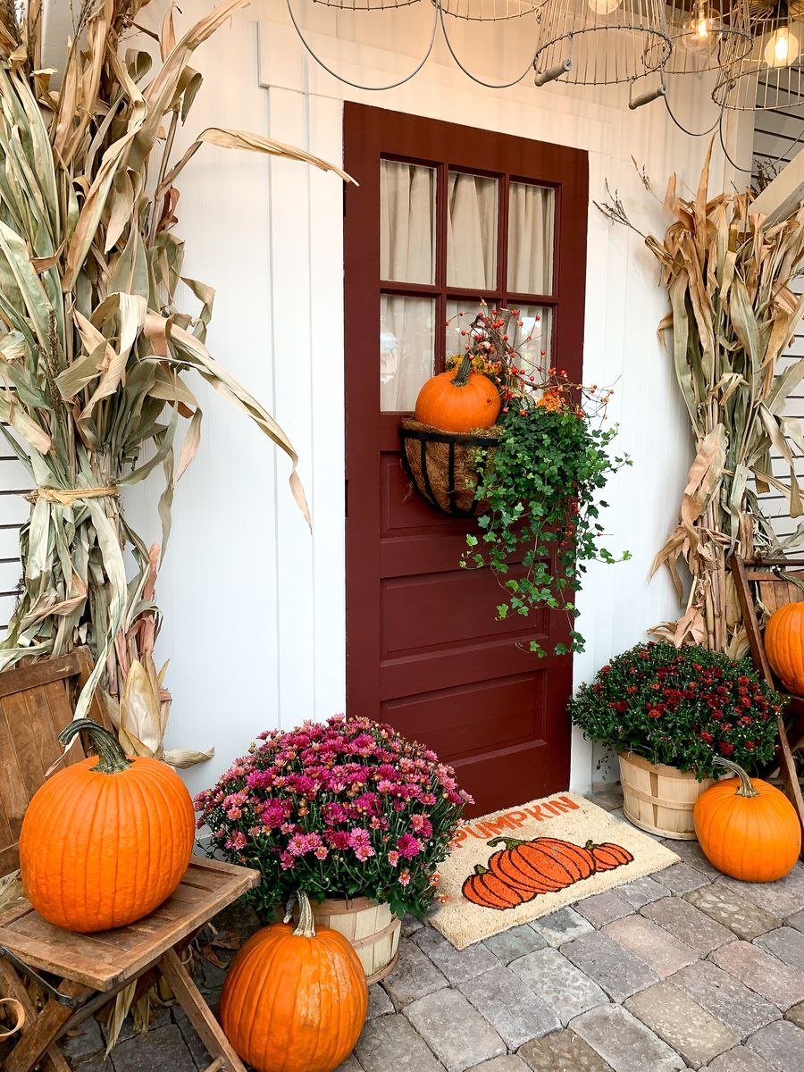 Fall front porch ideas for your American Legend Home