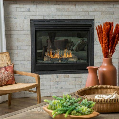 Plan V421 Fireplace Representative Image