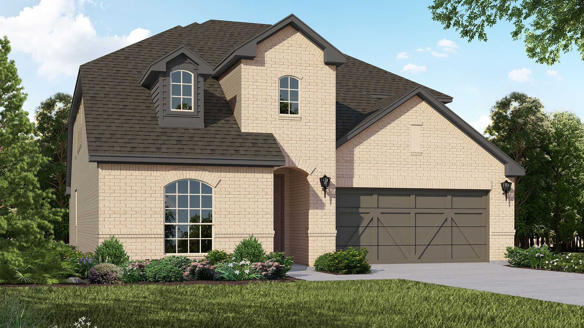 Plan 1528 Elevation A by American Legend Homes