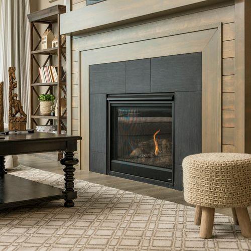 Plan C408 Fireplace Representative Image