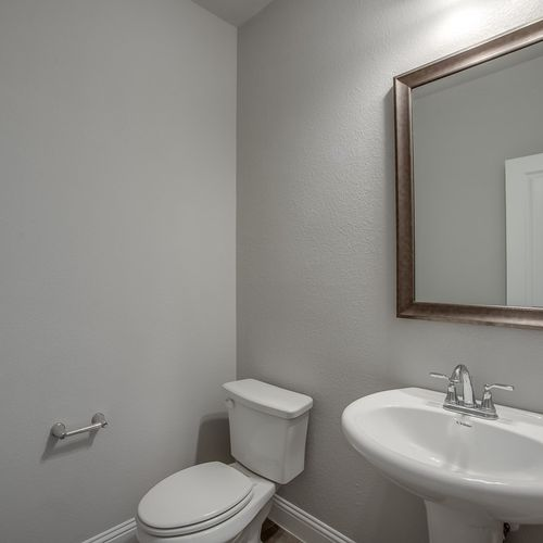 Plan 1602 Powder Bathroom Representative Photo