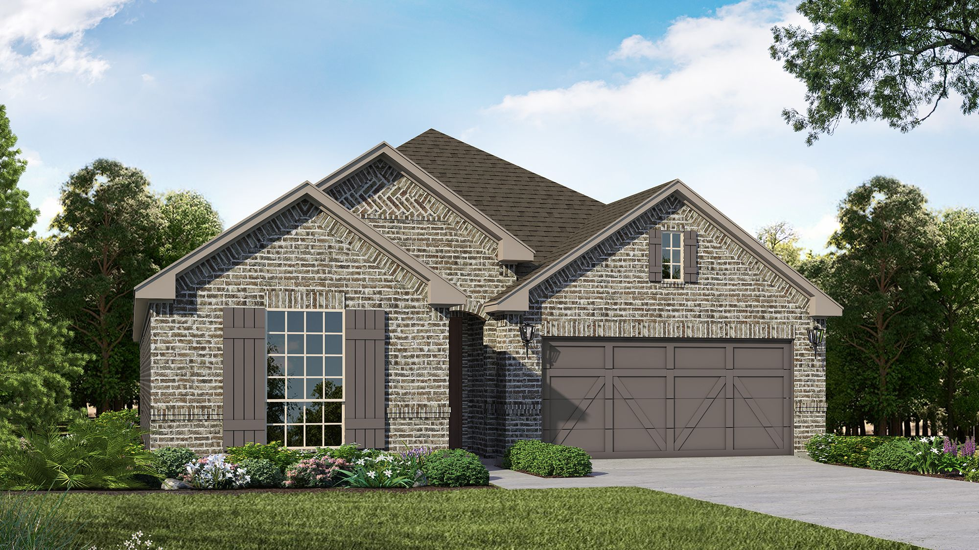 Plan 1521 Elevation A by American Legend Homes