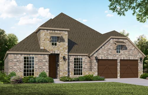 Plan 1619 Elevation B with Stone
