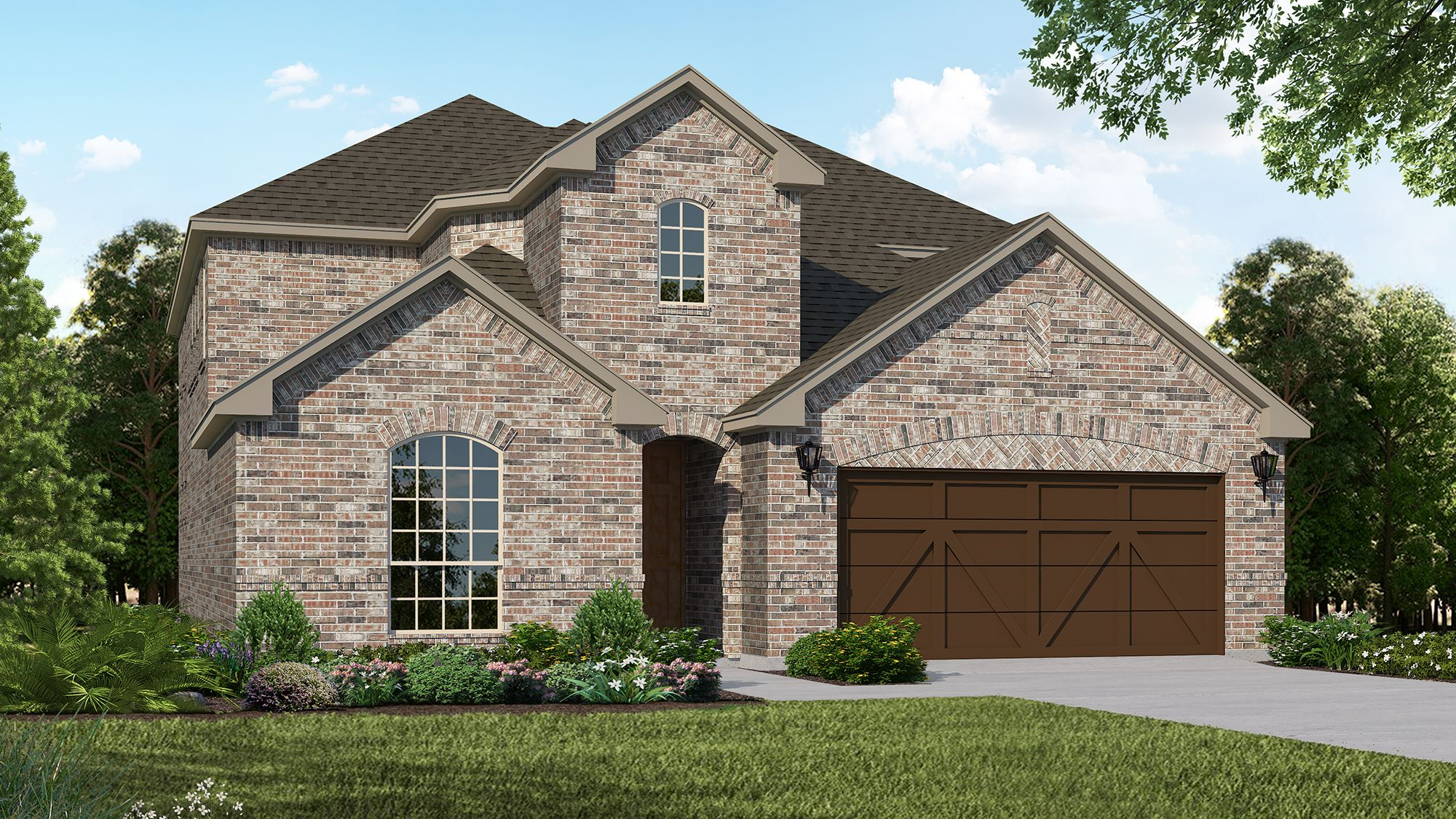 Plan 1527 Elevation A by American Legend Homes