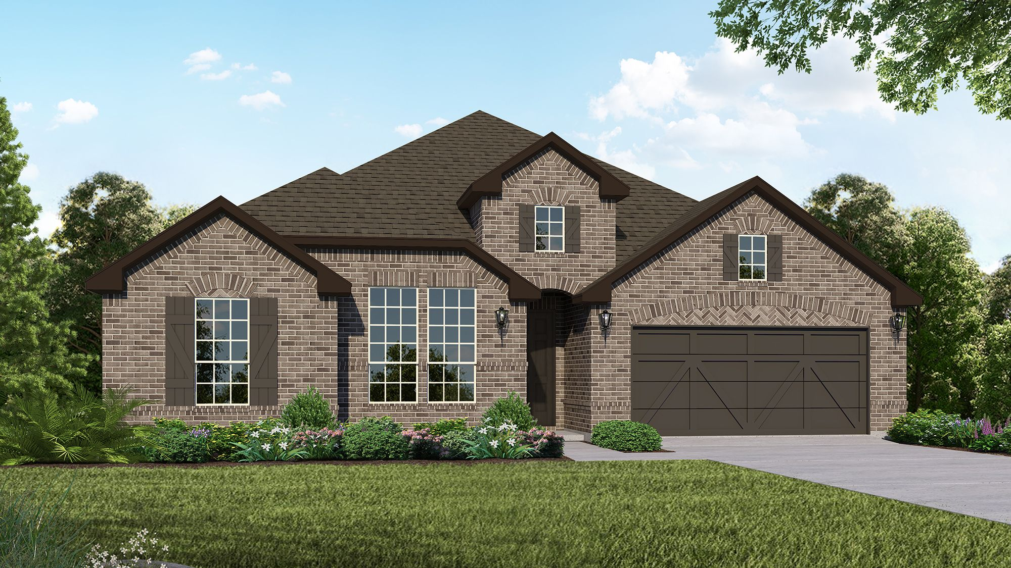 Plan 1685 Elevation B by American Legend Homes