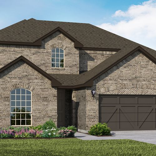 Plan 1524 Elevation A by American Legend Homes