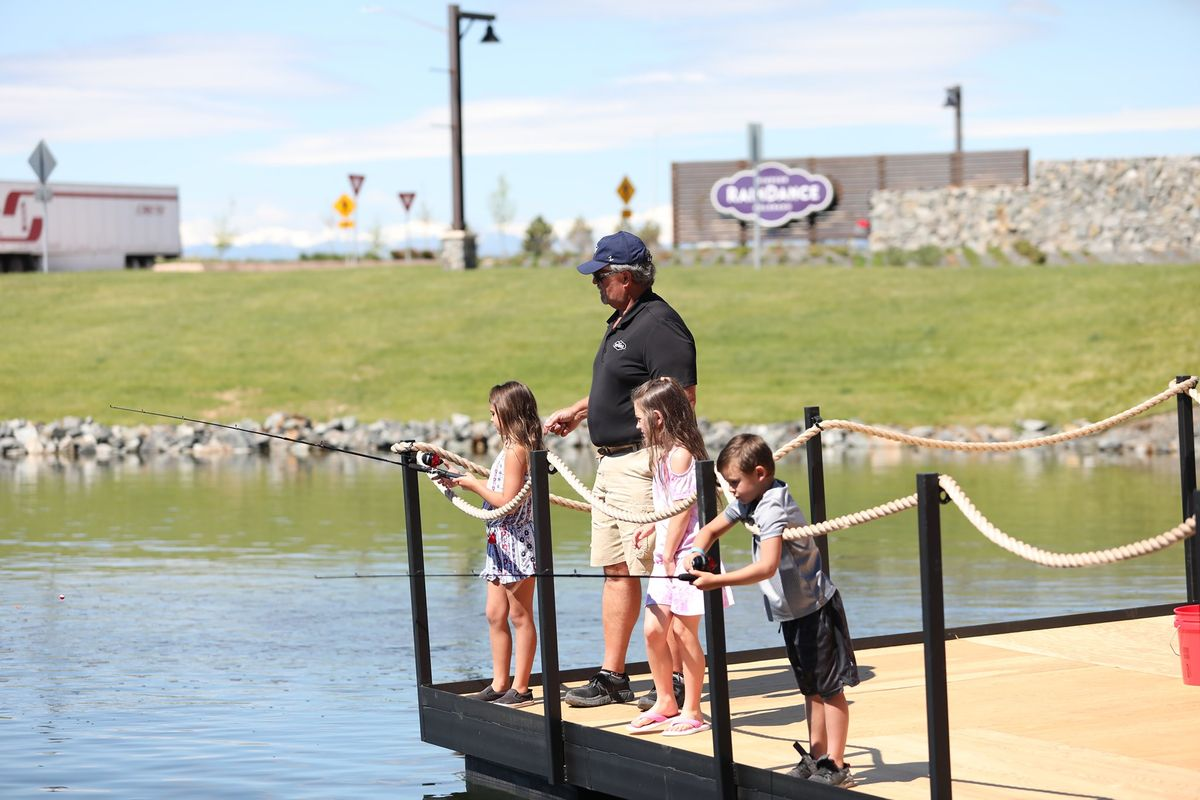 American Legend Families at RainDance enjoy Ted's Trout Pond and Ted's Sweetwater Grill
