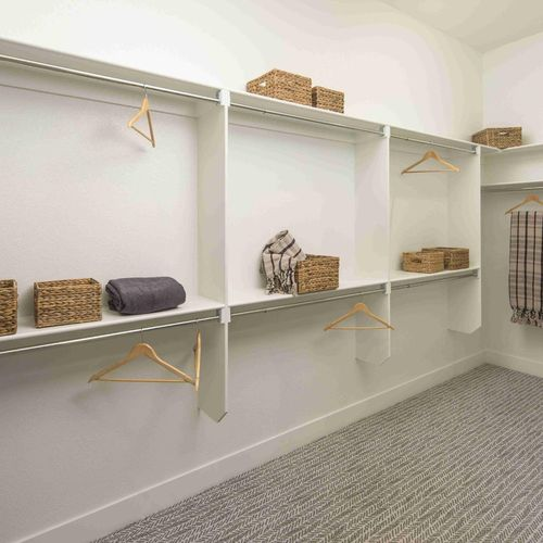 Plan C652 Primary Closet Photo by American Legend Homes