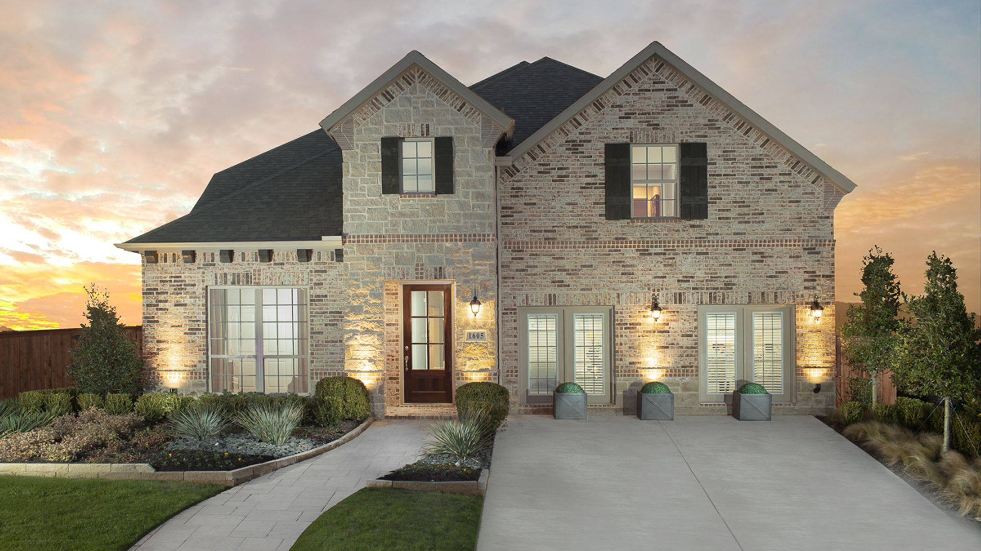 Wellington - Plan 1155 - Front Elevation by American Legend Homes