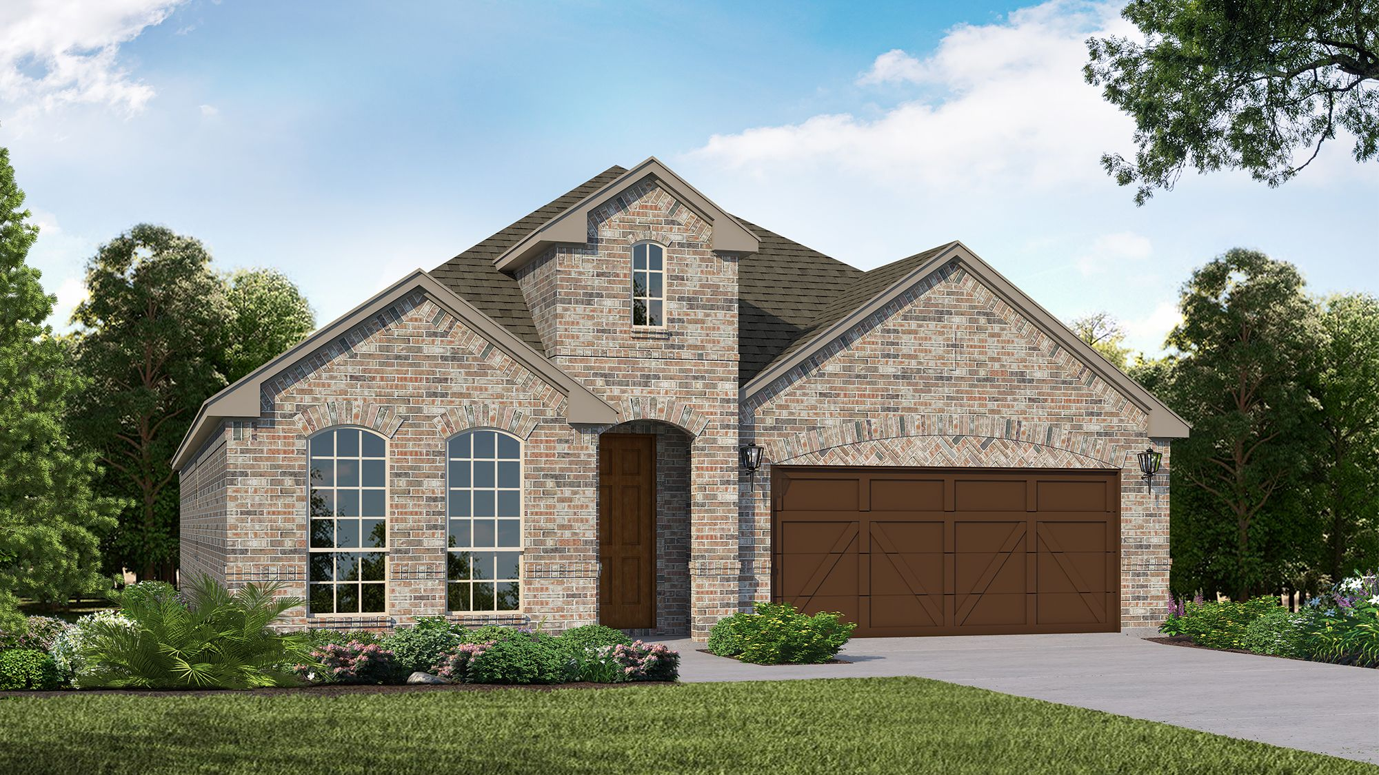 Plan 1519 Elevation A by American Legend Homes