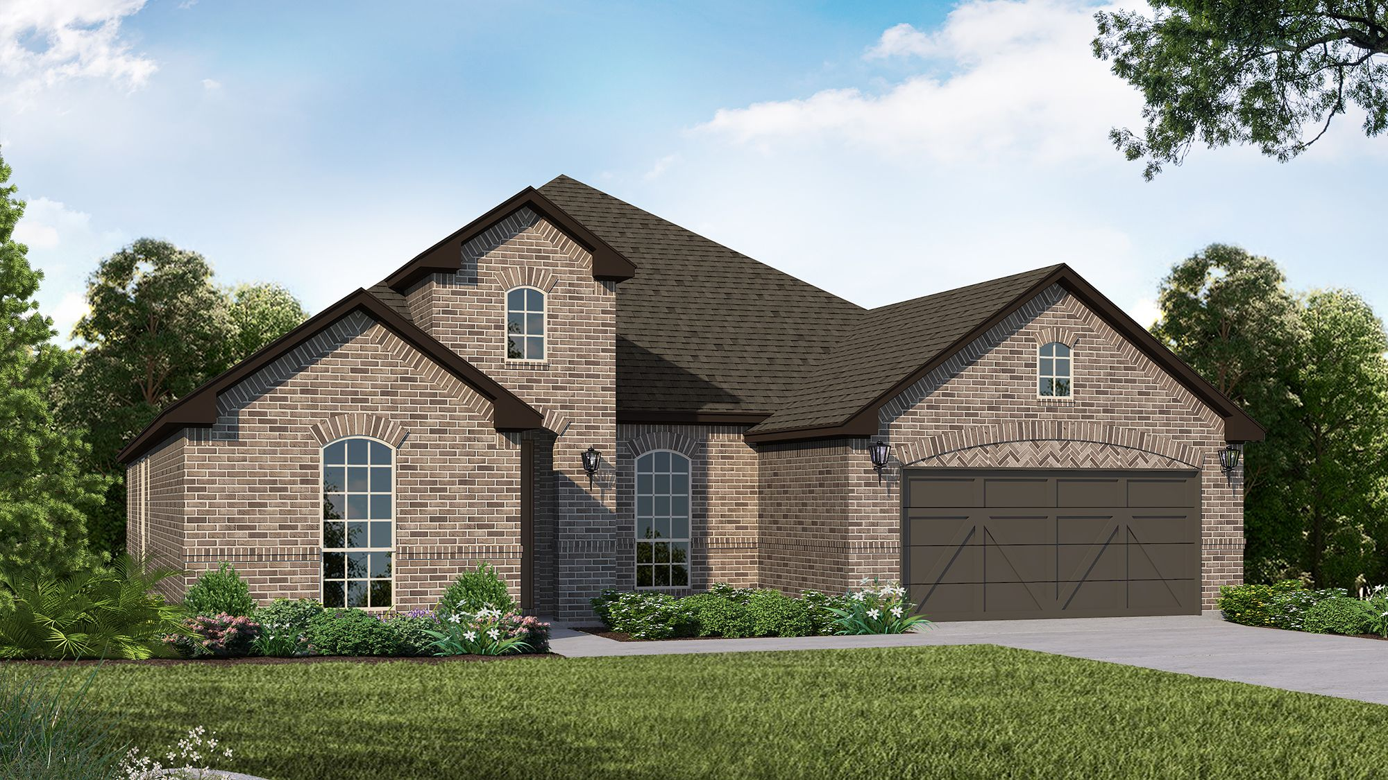 Plan 1688 Elevation A by American Legend Homes