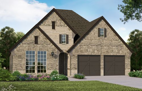 Plan 1120 Elevation D with Stone