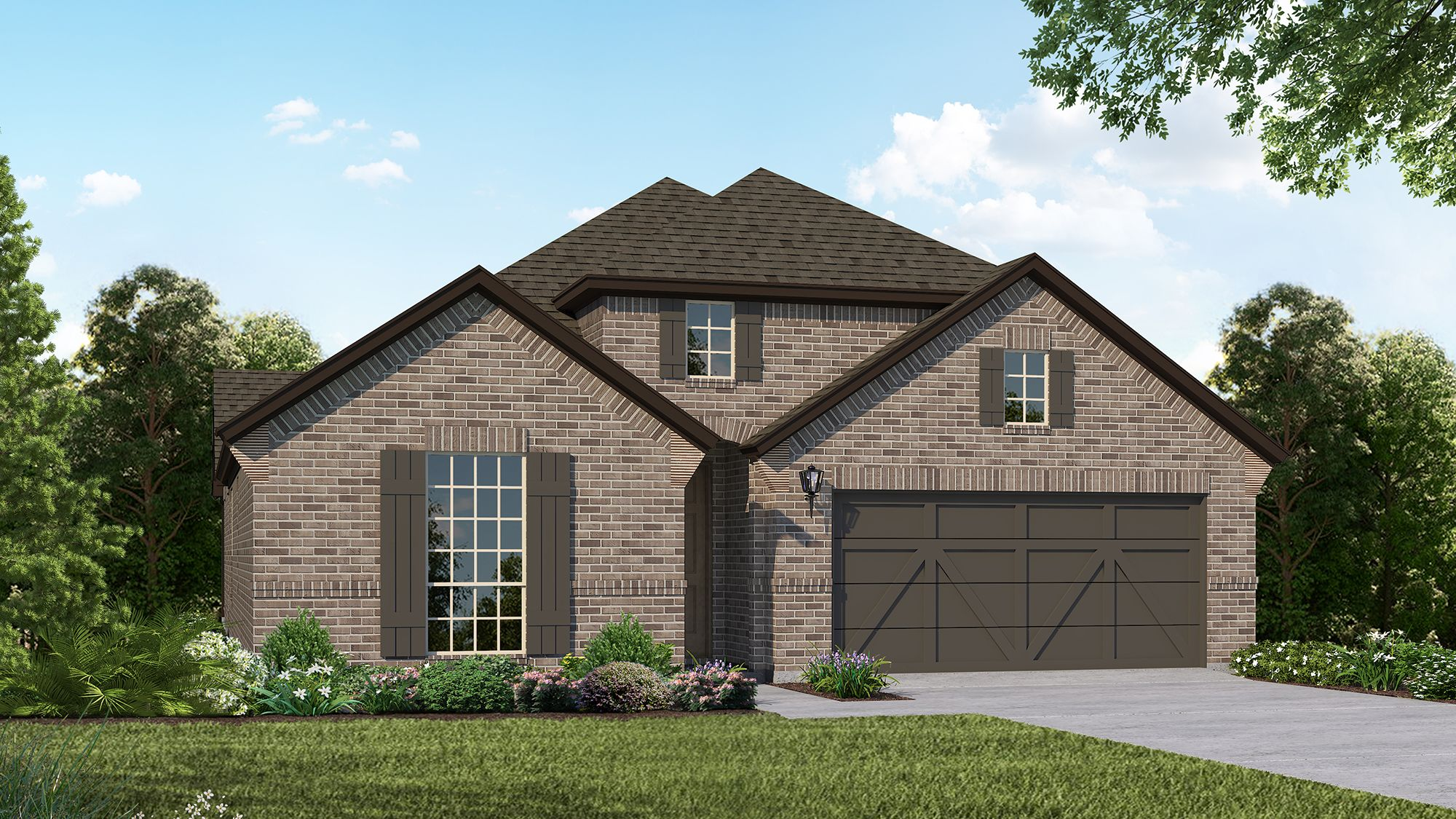 Plan 1523 Elevation B by American Legend Homes