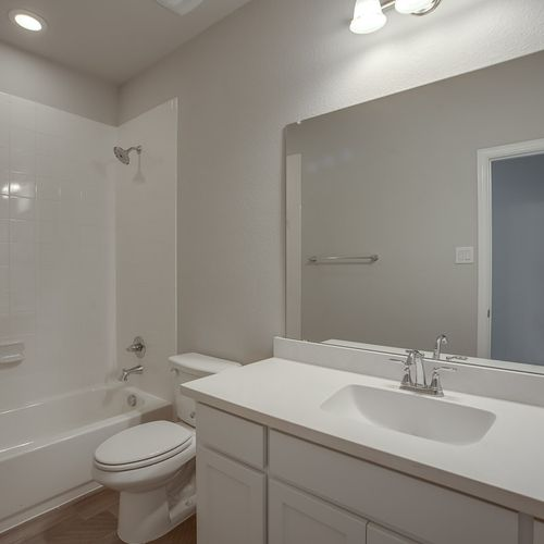 Plan 1602 Secondary Bathroom Representative Photo