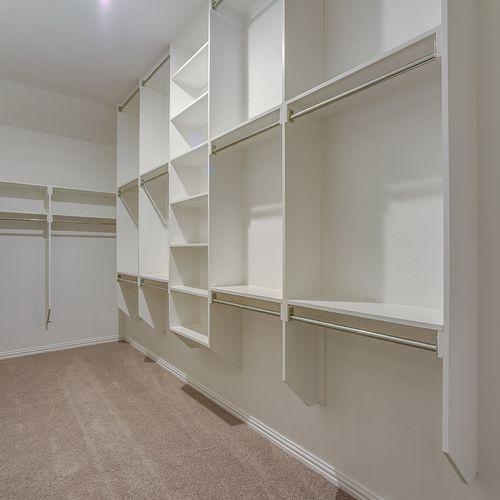 Plan 1688 Primary Closet Representative Image