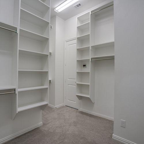 Plan 1682 Primary Closet Representative Image