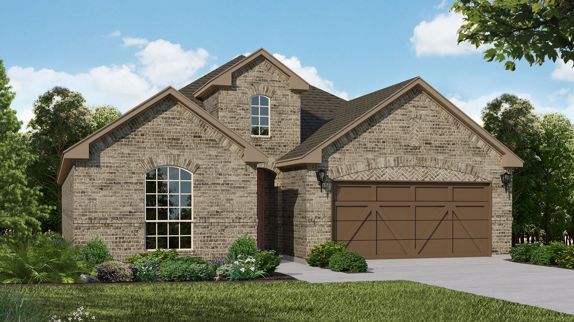 Plan 1530 Elevation A by American Legend Homes
