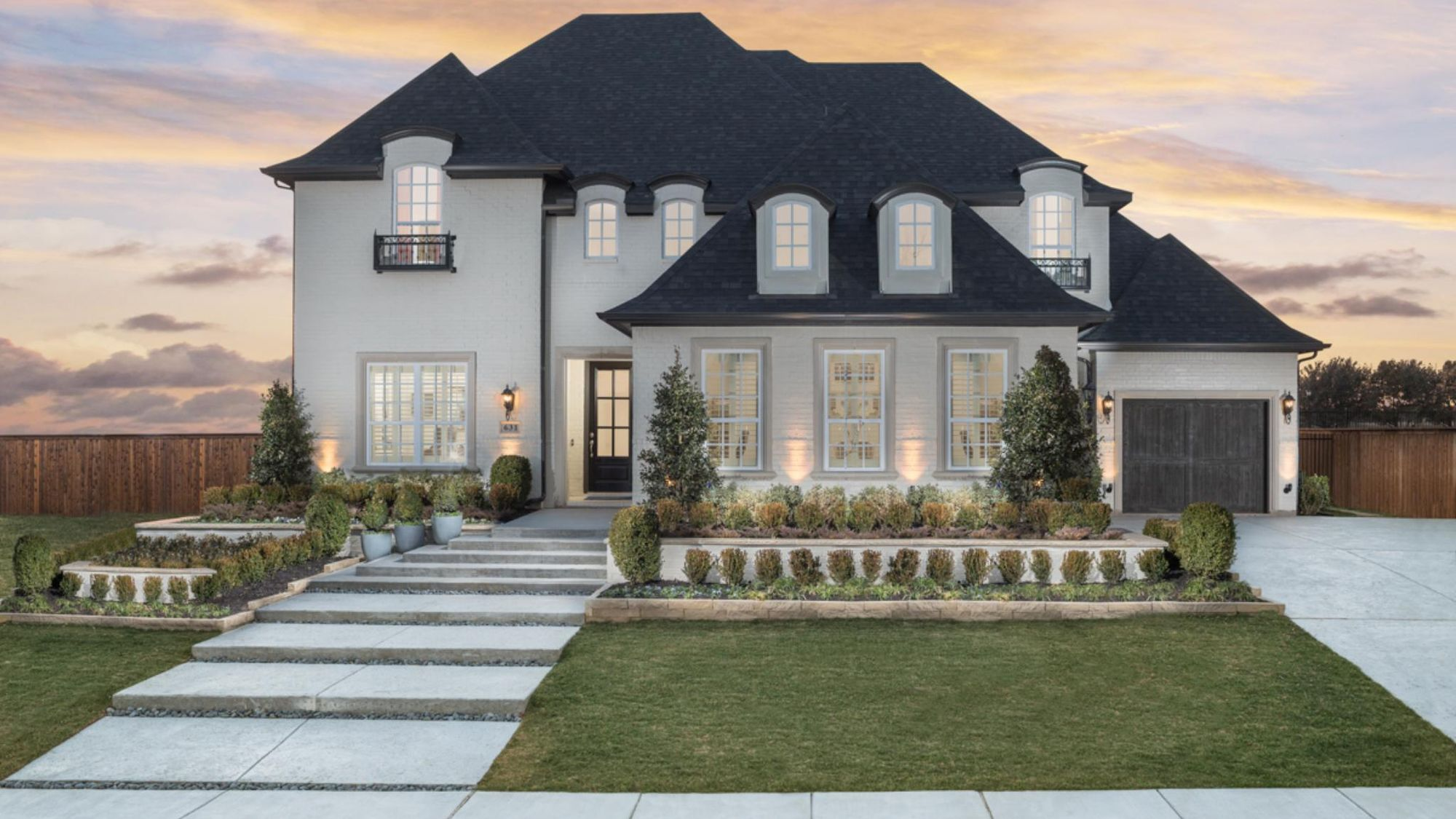 Parkside Model Plan 823 Front Side Elevation by American Legend Homes