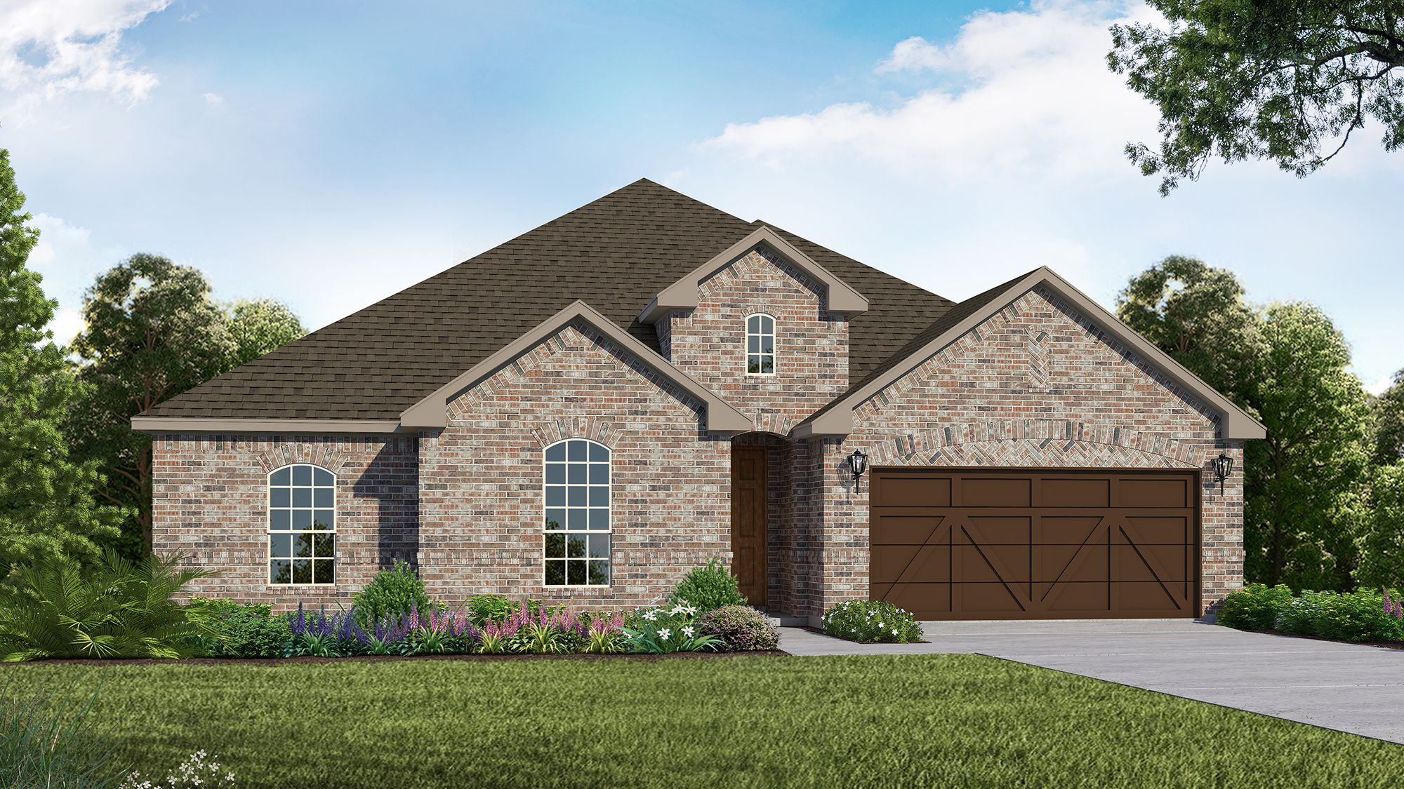 Plan 1681 Elevation A by American Legend Homes