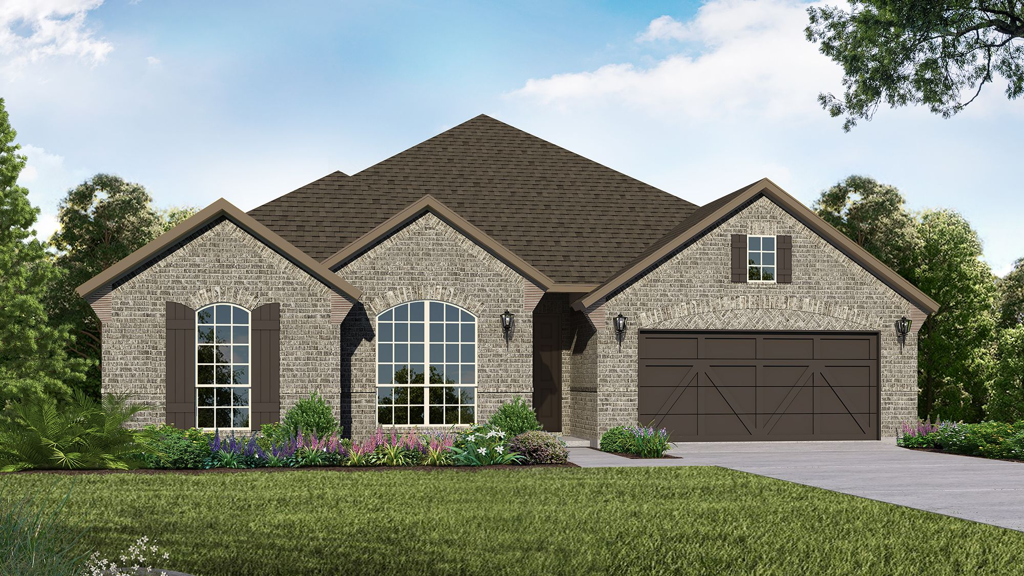 Plan 1685 Elevation A by American Legend Homes