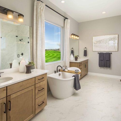 Plan C652 Primary Bathroom Photo by American Legend Homes