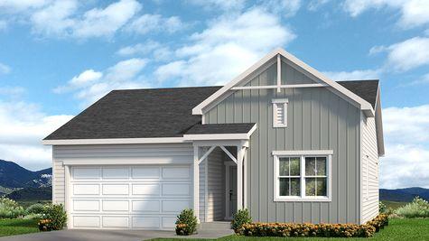 Hayden 601A - Farmhouse Elevation - Example