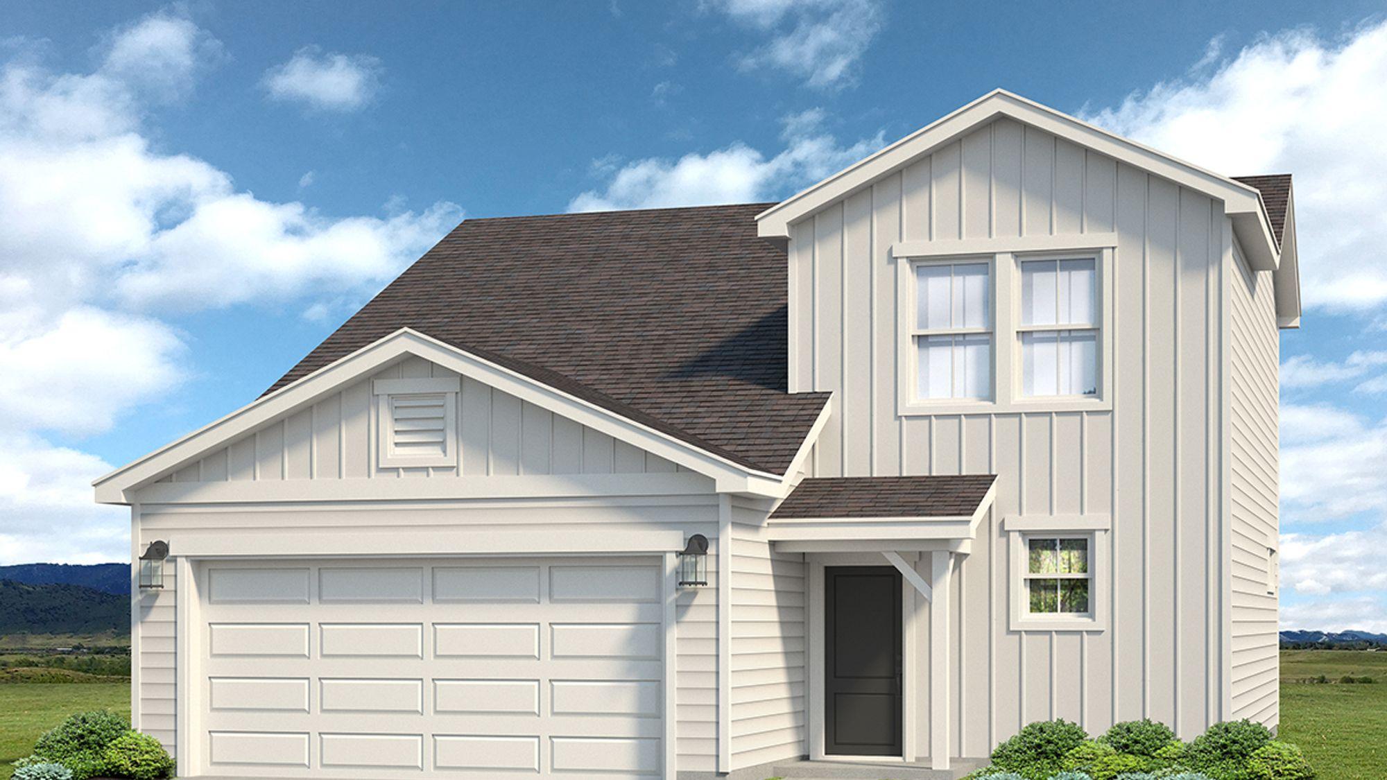 Lindon 504A - Farmhouse Elevation - Example