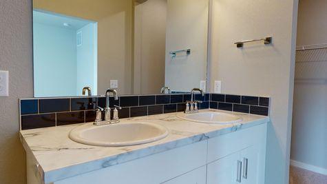 Holly 602 - Master Bathroom - Dual Vanity Detail View