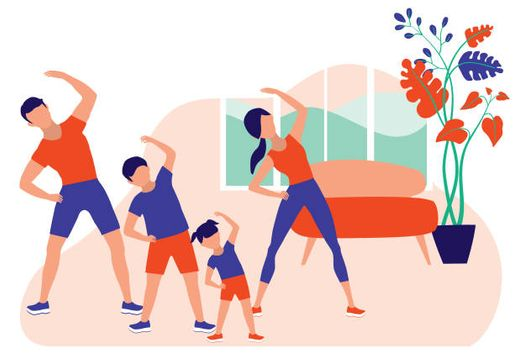 At-home workouts for Belclaire families