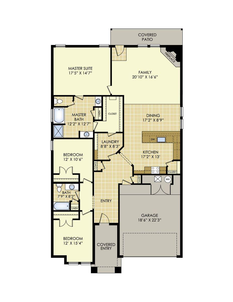 Martha Floor Plan In Windstone At Upland