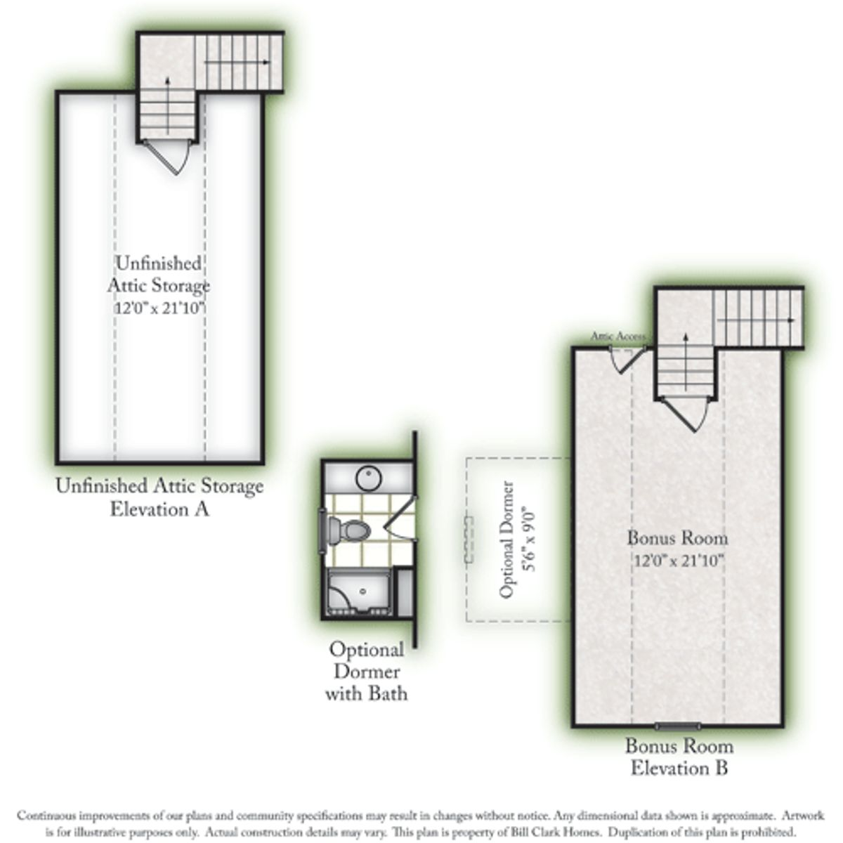 The Birkdale Unfinished Storage & Options