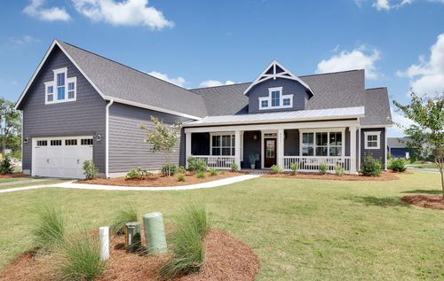 Craftsman-style ranch by Wilmington NC builders, Bill Clark
