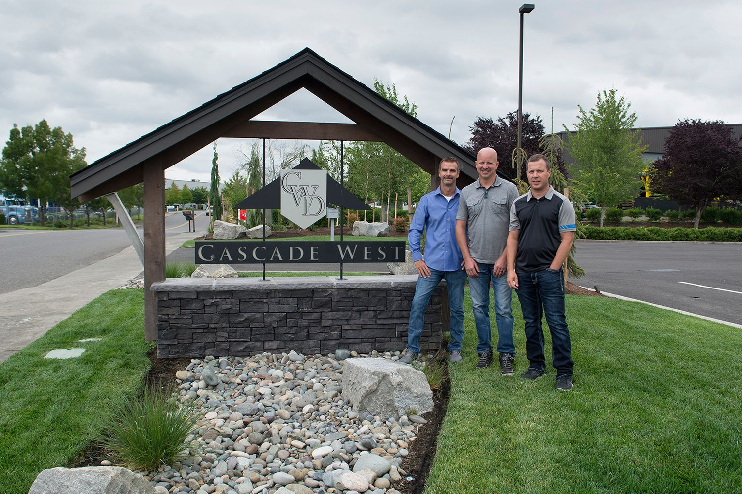 from Left to Right : Ron Wagner, Jason Stenersen and Brent Kalliainen from Cascade West Development