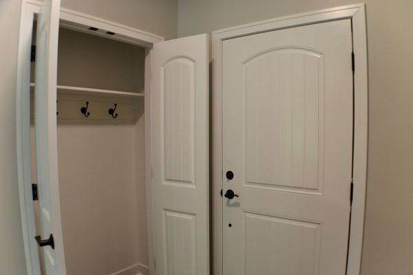 Front entry with spacious coat closet