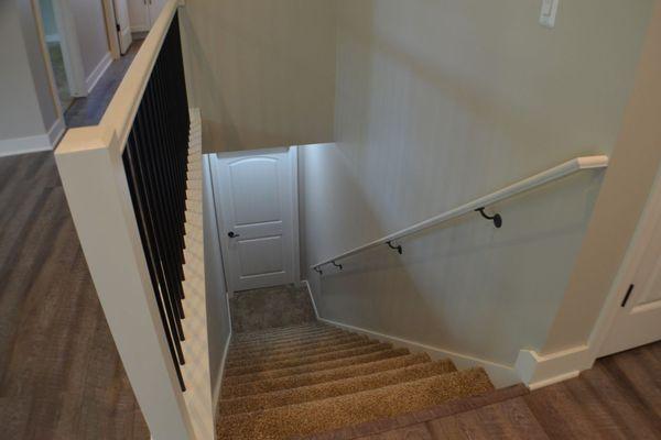 Railing stairs to basement