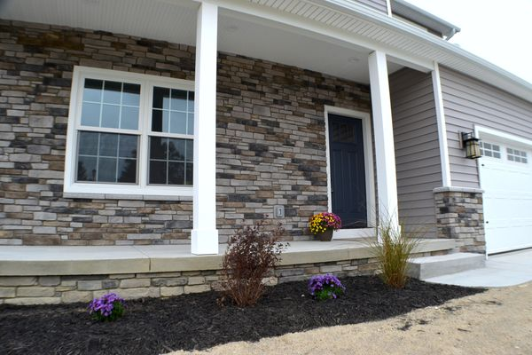 Front porch with beautiful stone detail