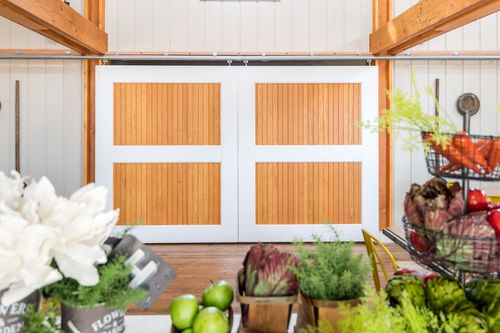 Events side Barn Chickahominy Falls Double doors to kitchen