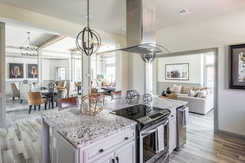 Barley Woods Clubhouse Kitchen island range resort style amenities fredericksburg
