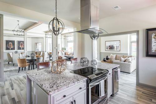 Barley Woods Clubhouse Kitchen island range resort style amenities fredericksburg