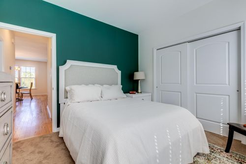 Winchester guest bedroom accent wall double door closest
