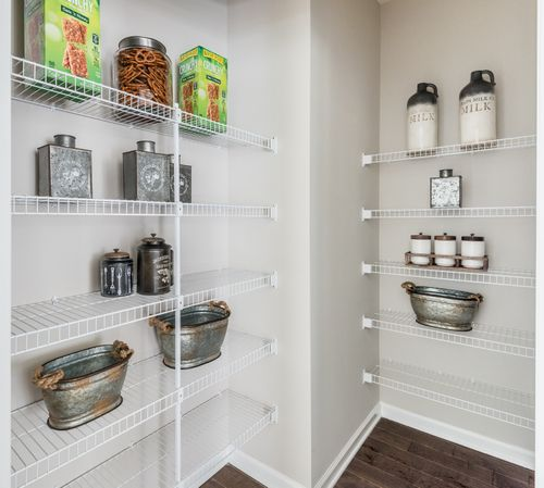 The Caroline Walk-in Pantry Selving Cornerstone Homes