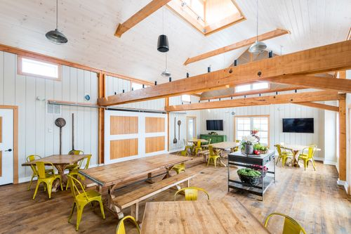 Chickahominy Falls Barn Interior Events Side seating entertainment