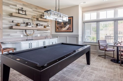 Barley Woods Billiards Room and bar 55+ living Cornerstone Homes